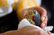 Bucovina Egg in the making