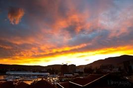Sunset over Hobart