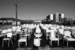 Christchurch - 185 white chairs - Earthquake memorial